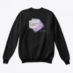 Reality Check Letter Sub Rosa Collection Crewneck Sweatshirt